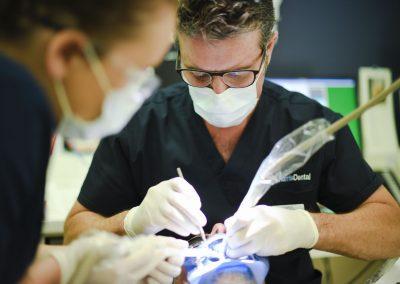 Dr Christopher Harris Working - Harris Dental Esperance